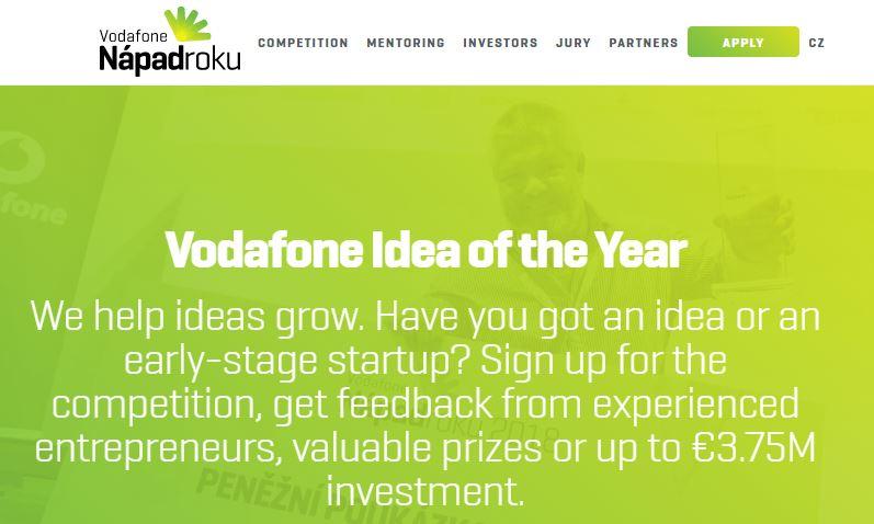 Jsme v TOP 30 Vodafone Nápad roku